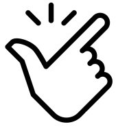 Hand snapping icon