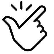 Hand snapping logo