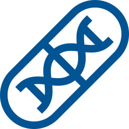 DNA in pill icon