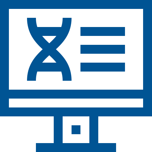 DNA on computer icon