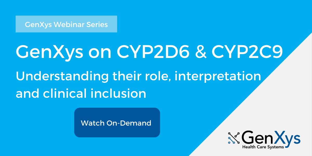GenXys on CYP2D6 & CYP2C9